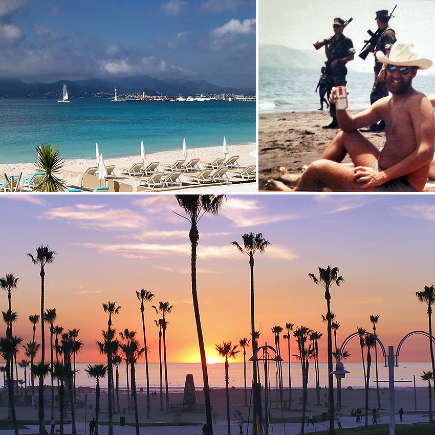 beaches at Tiger Island, Cannes and Venice, CA