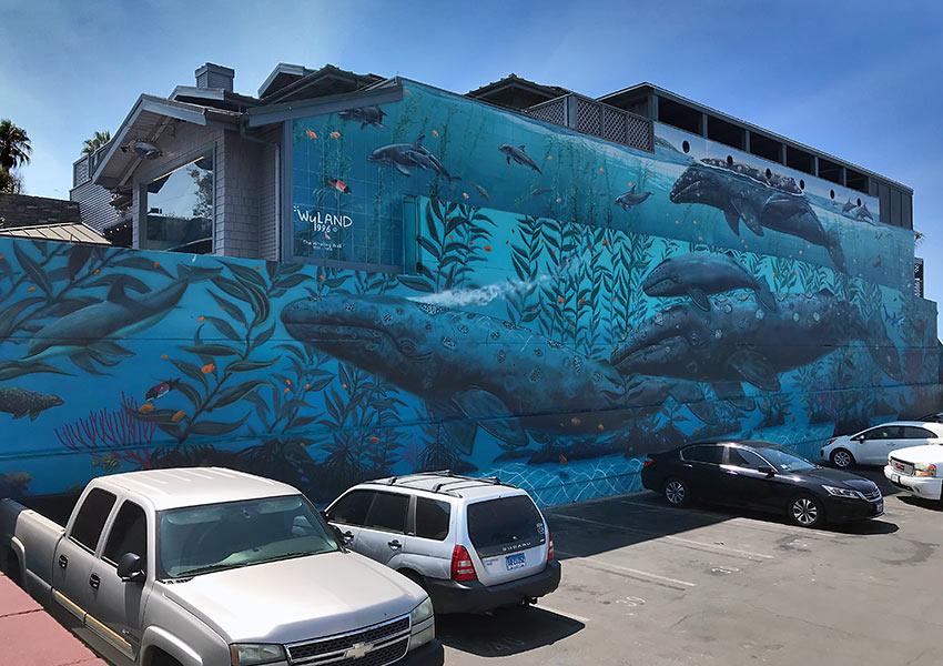Wyland's parking lot mural
