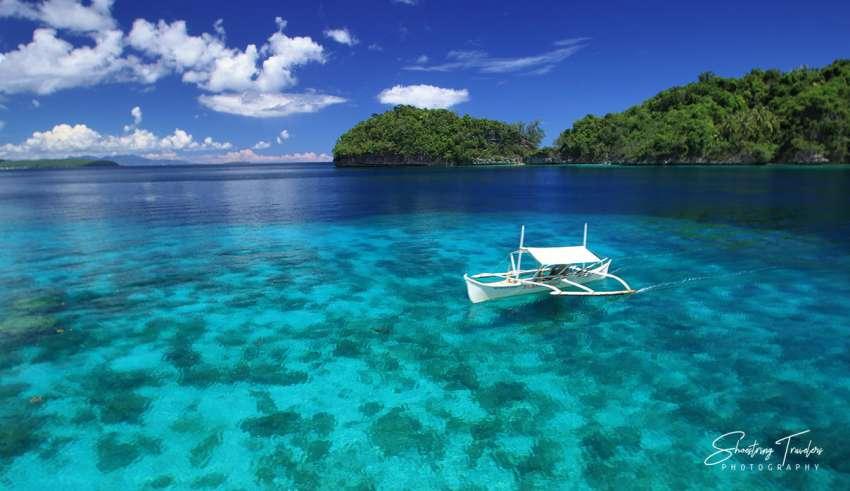 outrigger boat at Babas Cove, Basilisa, Dinagat, Philippines