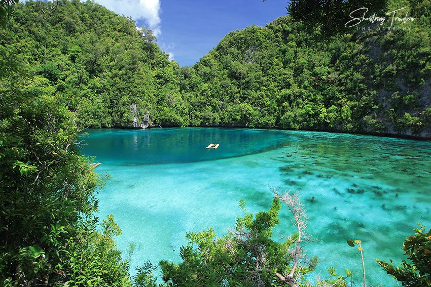 the Blue Lagoon in Pangabangan Island, Dinagat