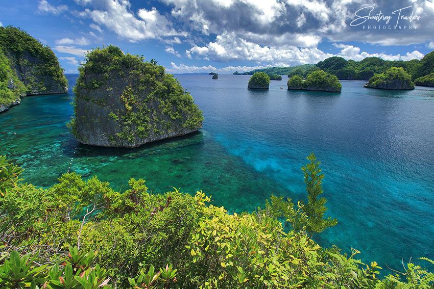 view of he Kisses Islets from atop Pangabangan Island