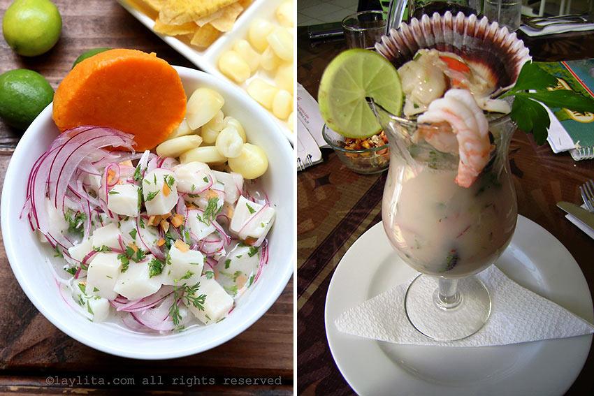 Leche de Tigre and ceviche