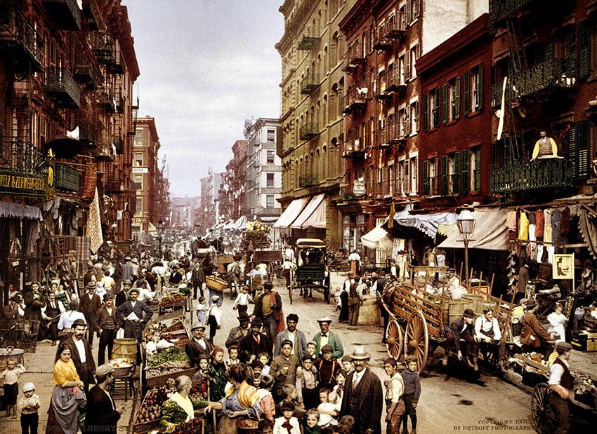 Mulberry Street, New York, 1900