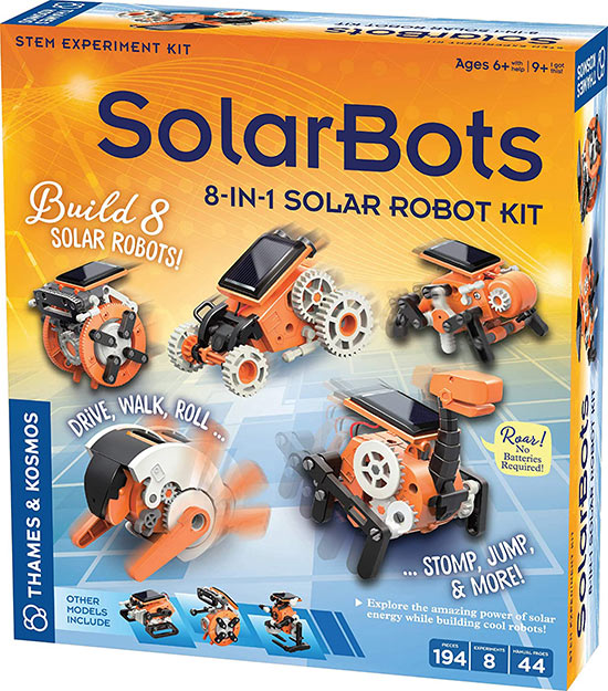 SolarBots' 8-in-1 Solar Robot Kit