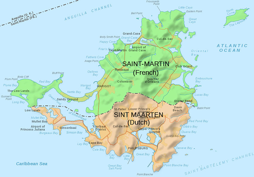 map of St. Martin