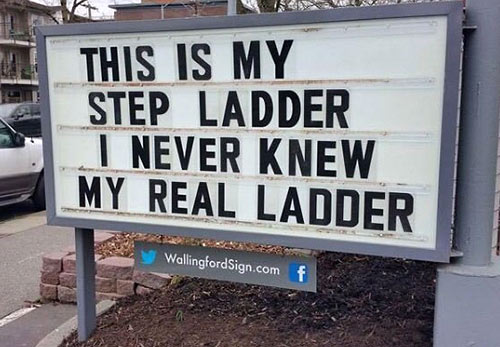 Parting Shots: Step Ladder