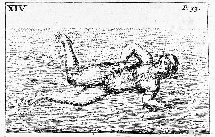 illustration from Everard Digby's De Arte Natandi