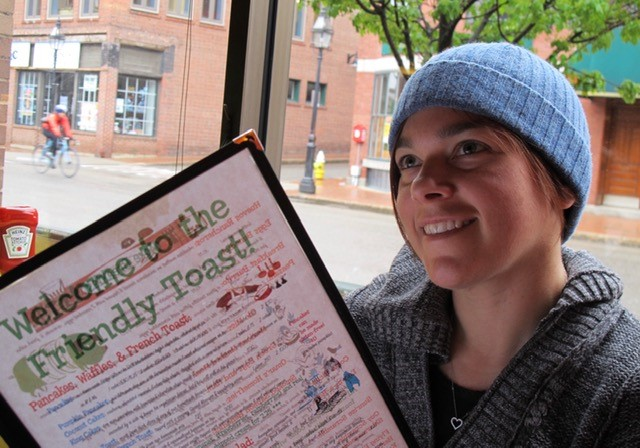 dining at The Friendly Toast, New Hampshire