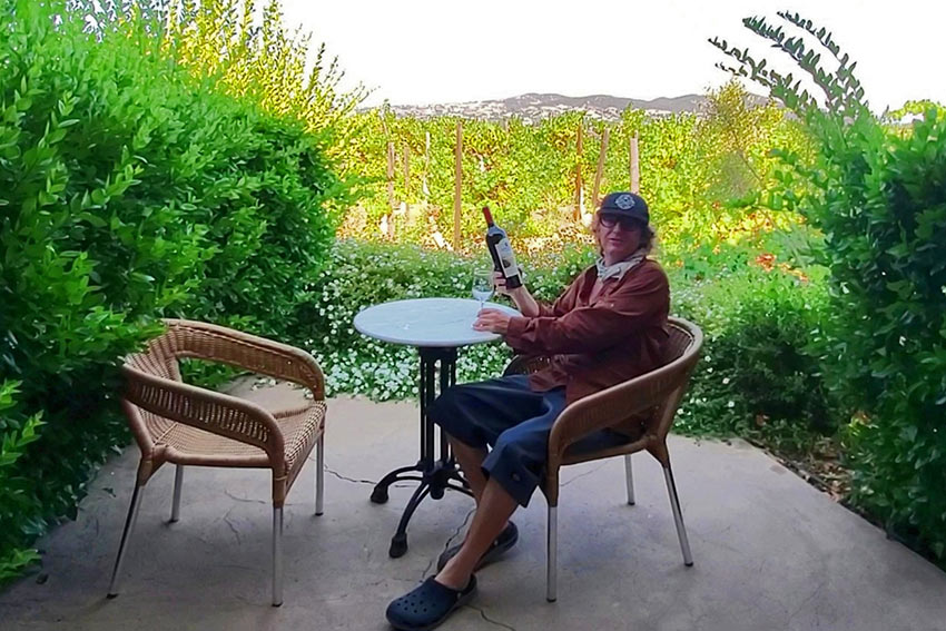 author at a private villa at South Coast Winery