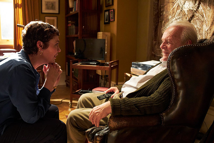 Olivia Colman as Anne with her father Anthony played by Sir Anthony Hopkins