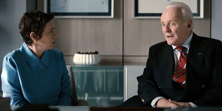 Olivia Colman and Sir Anthony Hopkins in 'The Father'