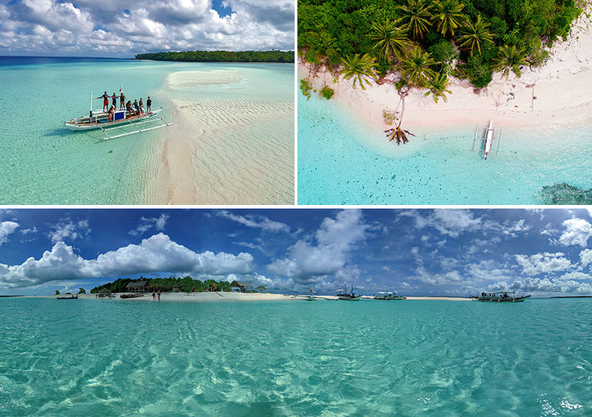 some of the islands in Balabac, southern Palawan