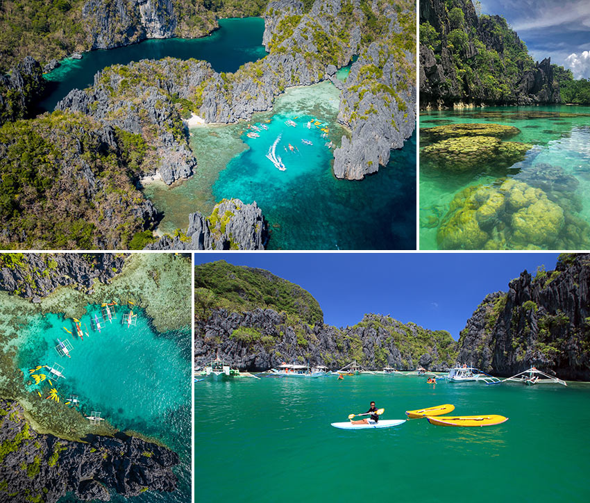 the Big and Small Lagoons at Miniloc Island, Bacuit Bay, El Nido
