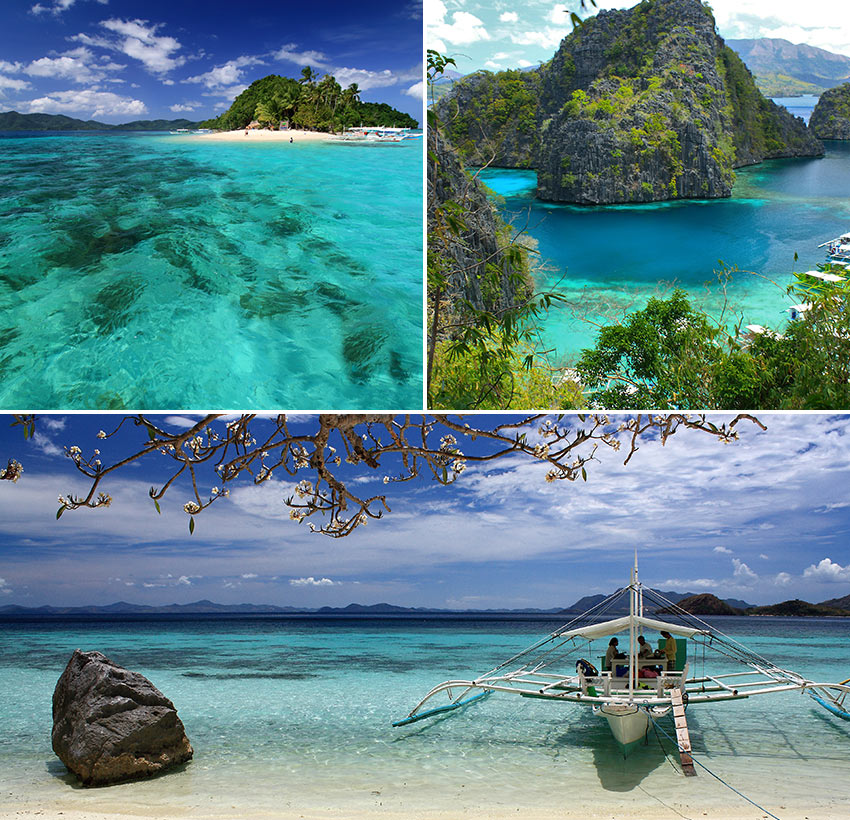 scenes from Coron and Port Baron, Palawan