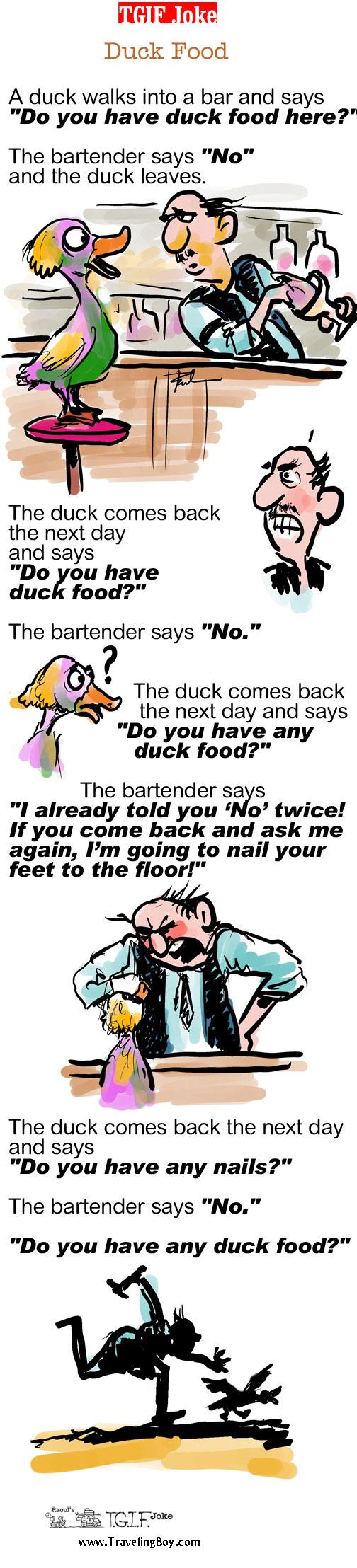 TGIF Joke of the Week: Duck Food