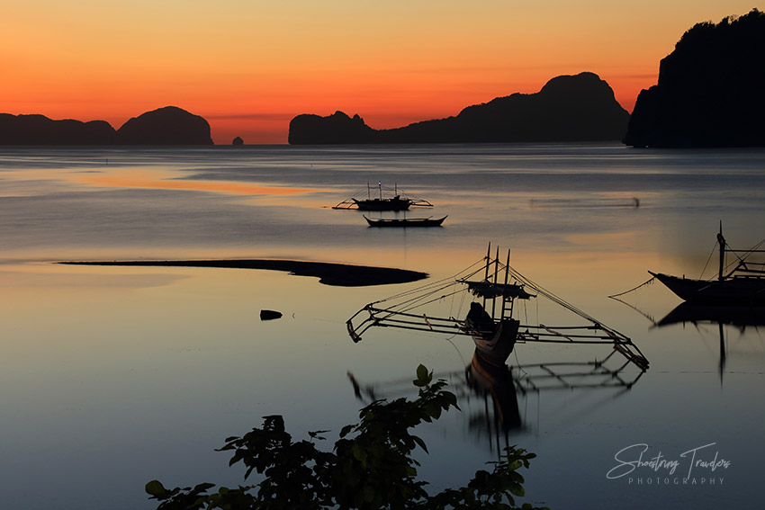 sunset at Corong-Corong Beach, El Nido