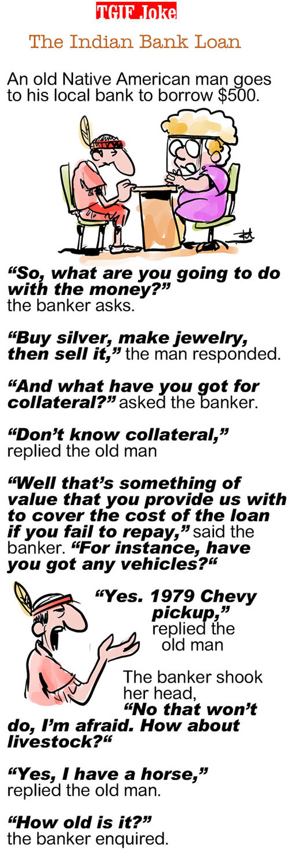 TGIF Joke of the Week: Indian Bank Loan 1
