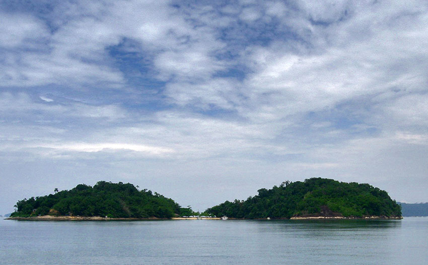 one of the islands in the Bay of Paraty