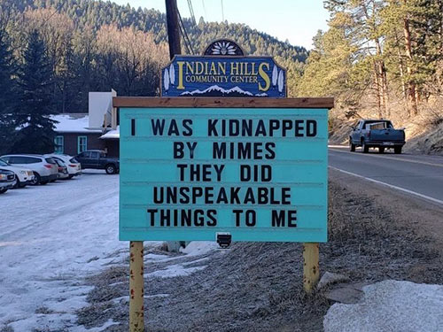 Parting Shots: Kidnapped by Mimes
