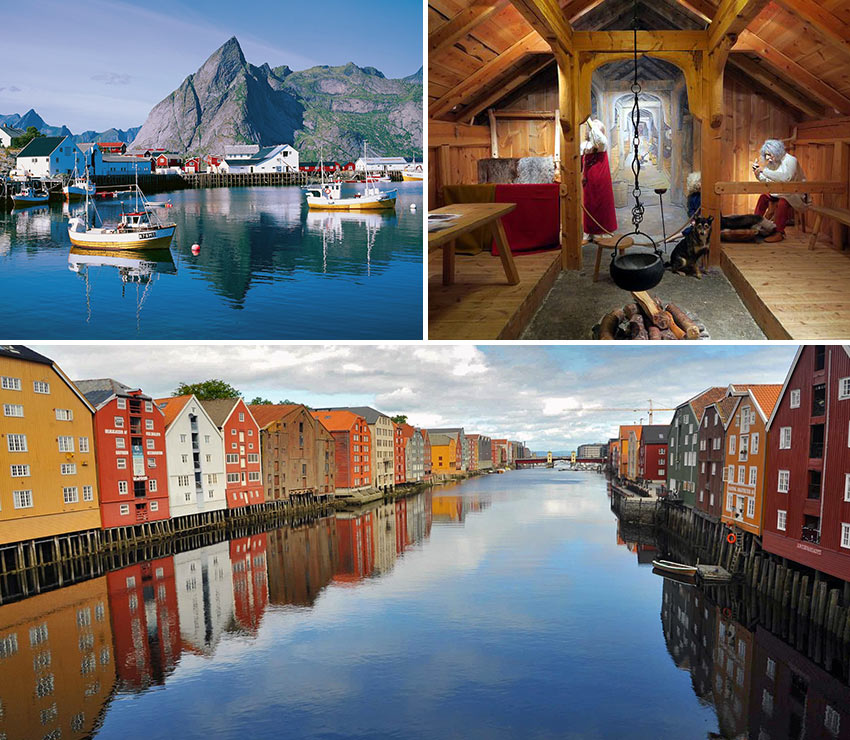 Lofoten, Tromsø Museum and Trondheim hotels and homes on the river
