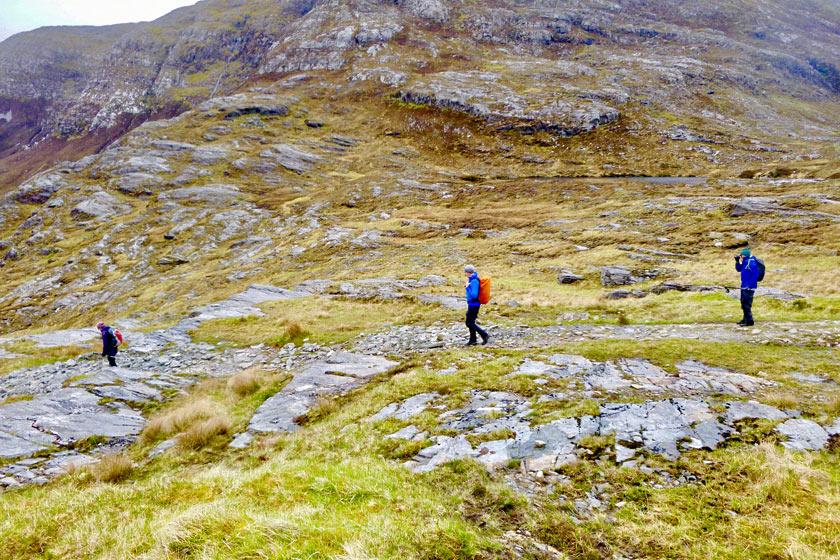 Hiking the Mam Ean Pass, Connemara, Ireland
