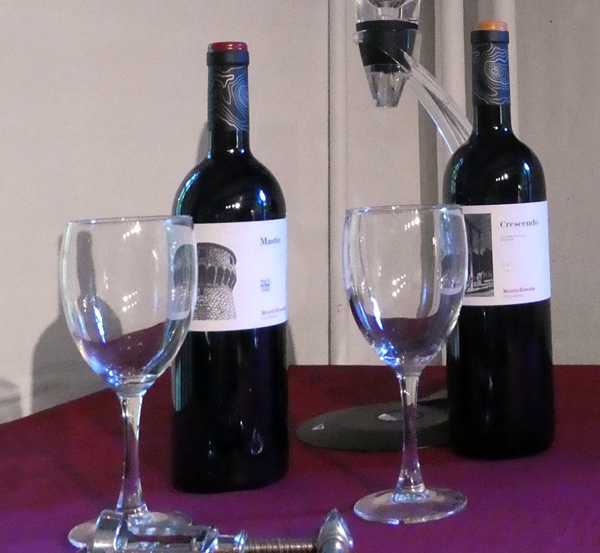 Monterosola wine tasting