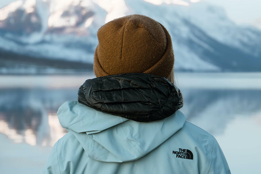 traveler with a North Face jacket