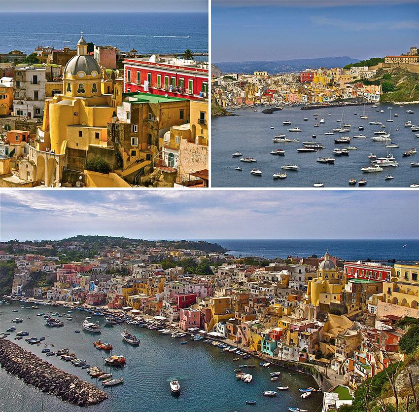 views of Procida, Bay of Naples, Italy
