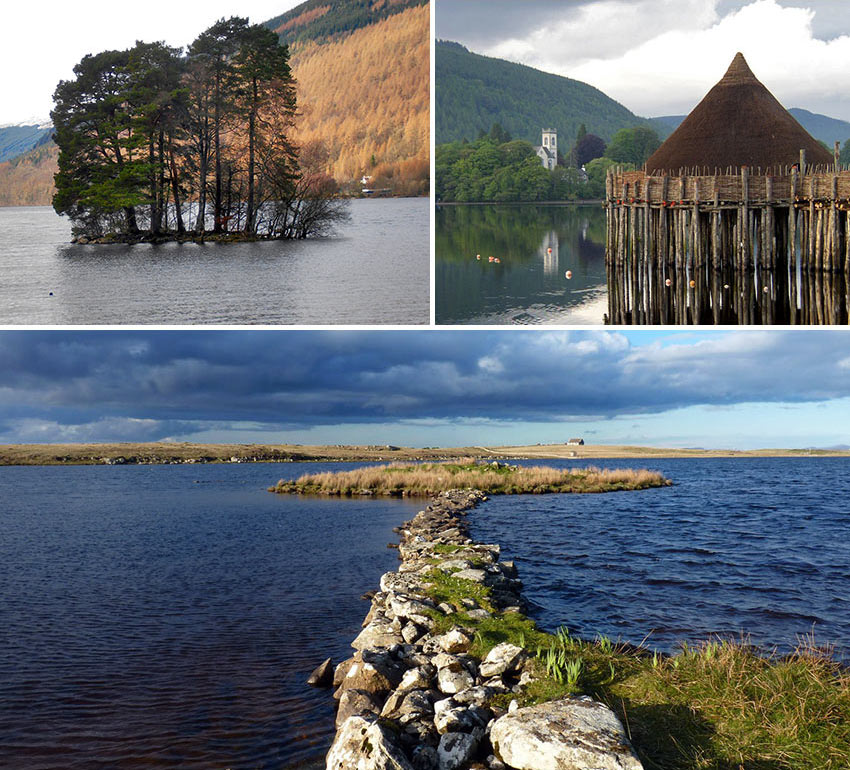 a collection of crannogs in Scotland and Ireland