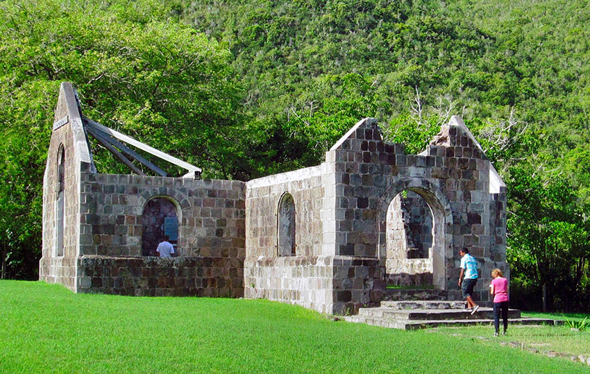 ruins of the Thomas Cottle Church