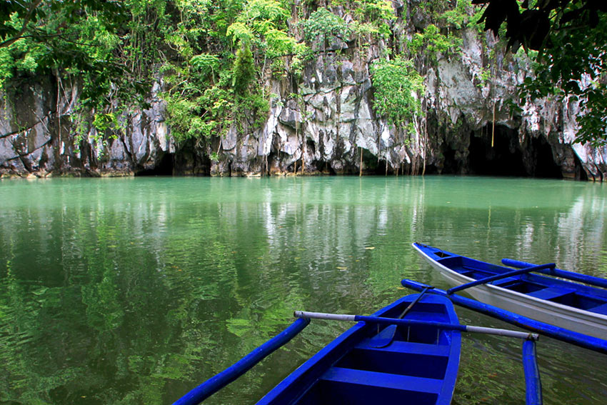 the Underground River entrance, Puerto Princesa