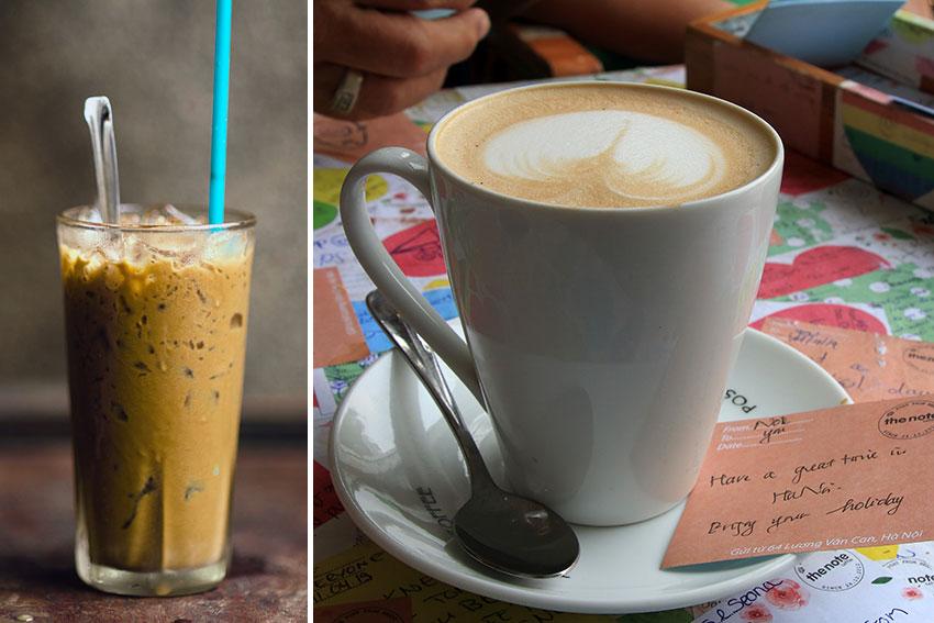 Vietnamese iced coffee and egg coffee