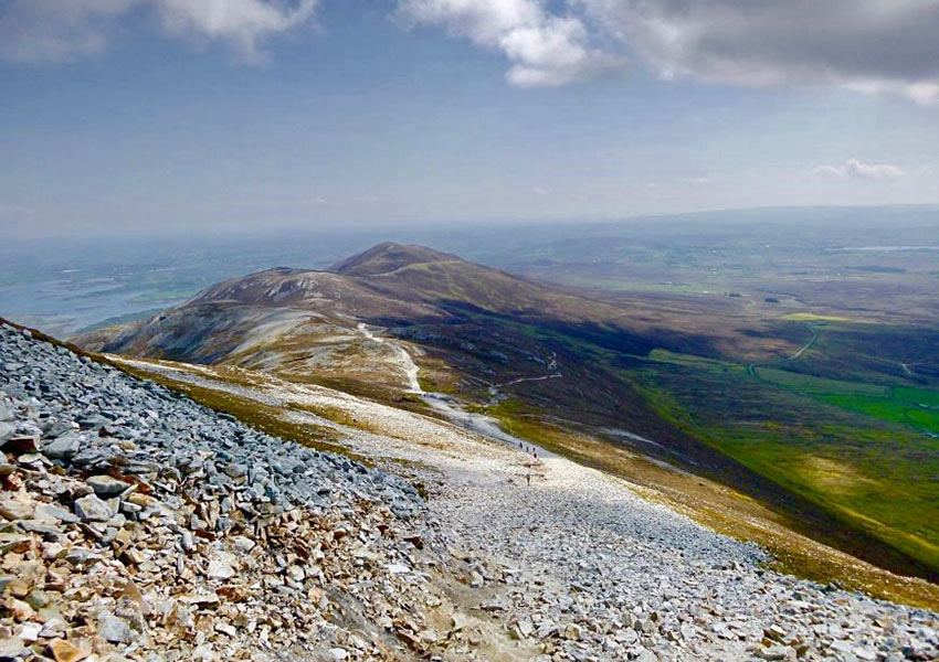 view from the Reek, or Croagh Patrick, Ireland