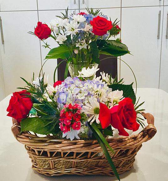 Alice's Table flowers