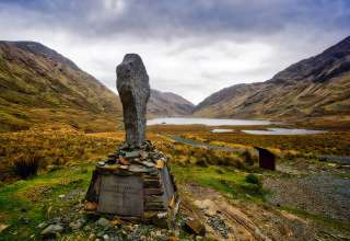 Celtic Cross at the site of Connemara's Doolough Tragedy of 1849