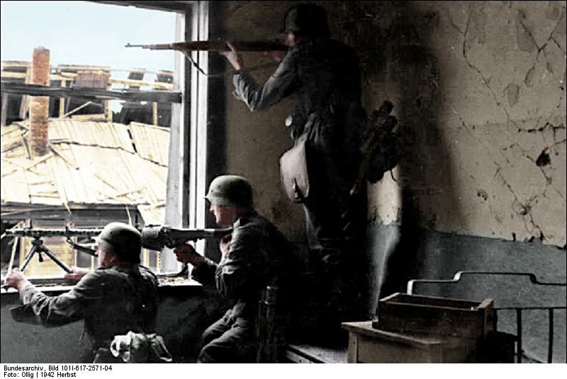 German troops in Stalingrad, 1942