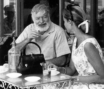 Hemingway with Lauren Bacall in Spain
