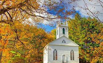 New England fall scene