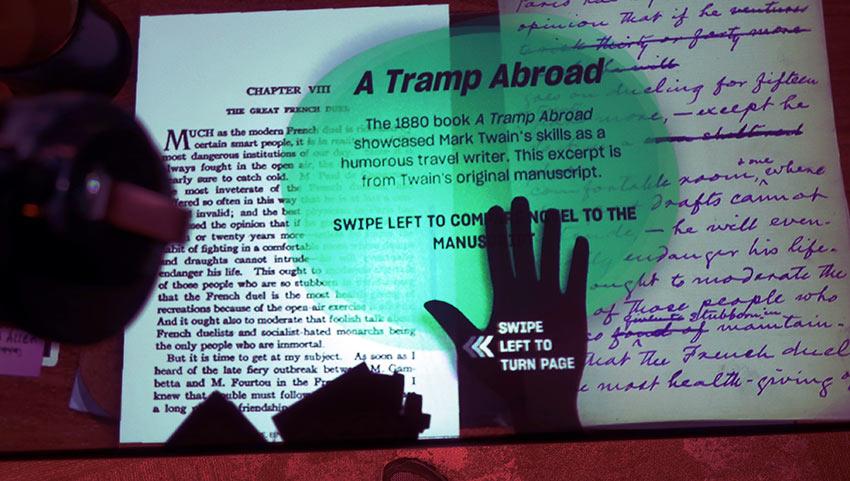 original Mark Twain manuscript, National Comedy Center, Chautauqua, NY