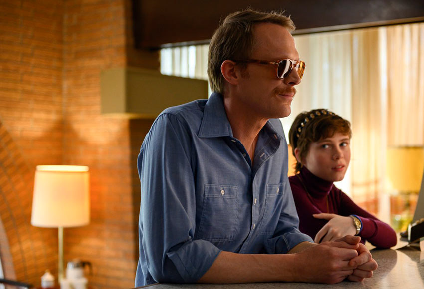 Paul Bettany & Sophia Lillis in a scene from the movie 'Uncle Frank'