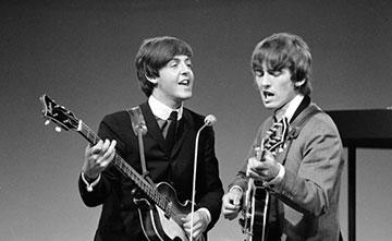 Beatles Paul McCartney & George Harrison