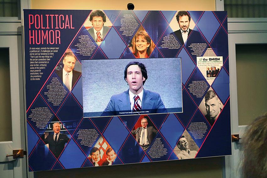 political humor exhibit, National Comedy Center, Chautauqua, NY