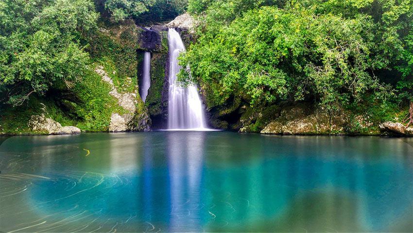 waterfall on Reunion Island