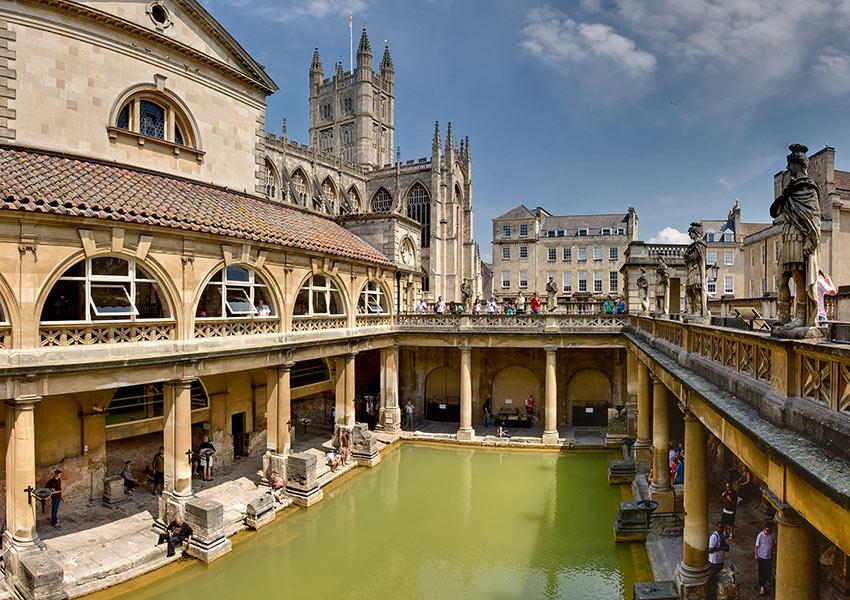 Roman Baths inn Bath, England