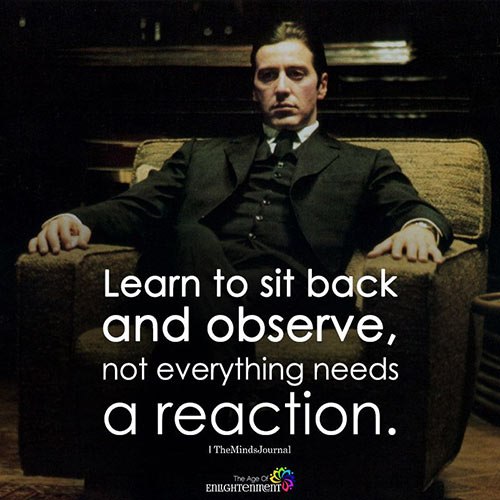 Sit Back and Observe
