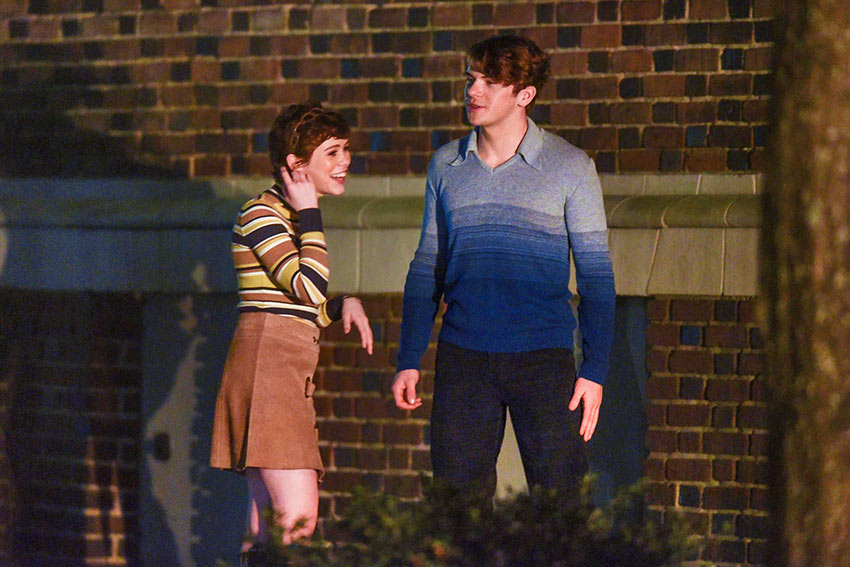 Sophia Lillis and Colton Ryan in 'Uncle Frank'