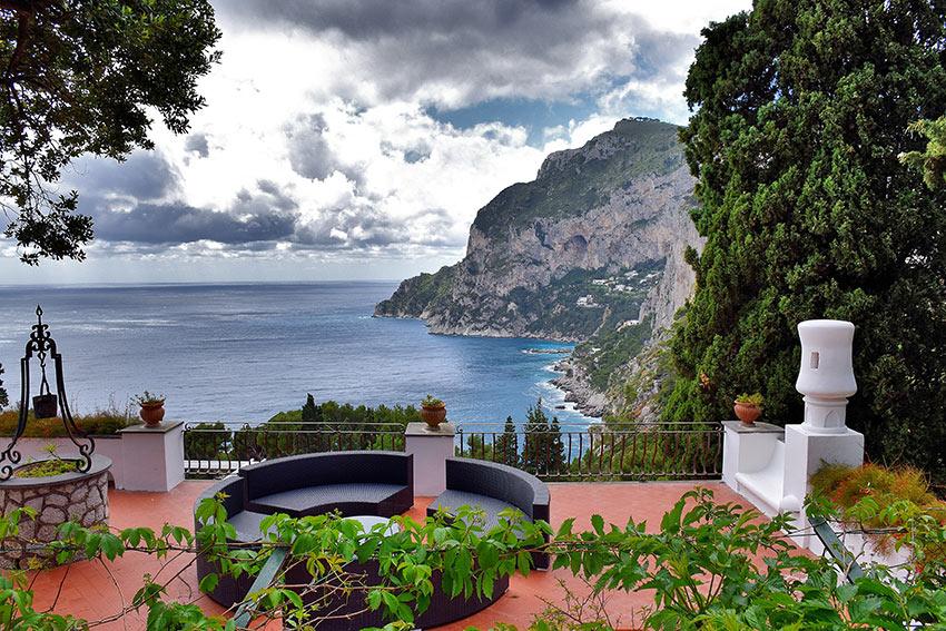 view of the Sorrento Peninsula and Tyrrhenian Sea, Capri