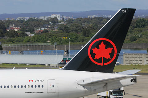 Air Canada airliner