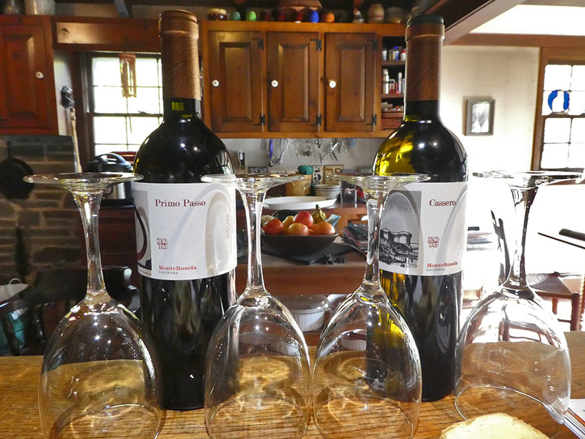 Cassero 2018 and Primo Passo 2018 wines