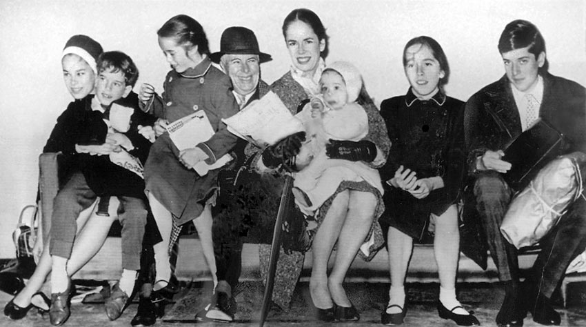 the Chaplin Family in 1961